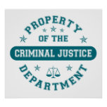 Property of the Criminal Justice Department Poster