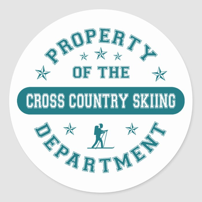 Property of the Cross Country Skiing Department Classic Round Sticker