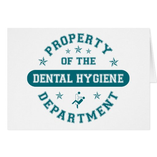 Property of the Dental Hygiene Department Cards