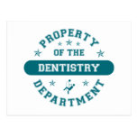 Property of the Dentistry Department Postcard
