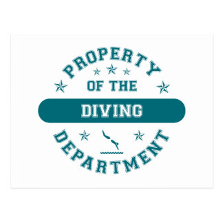 Property of the Diving Department Postcard