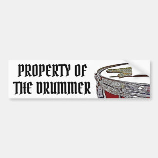 Property of the Drummer Drum Bumper Sticker Snare