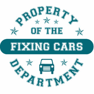 Property of the Fixing Cars Department Photo Sculpture Ornament