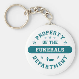 Property of the Funerals Department Keychain