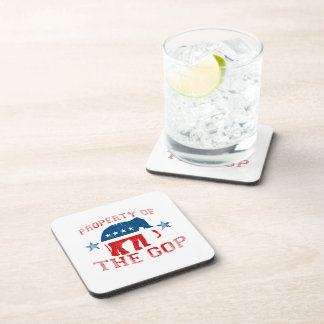 PROPERTY OF THE GOP Faded.png Coasters