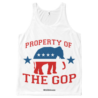 PROPERTY OF THE GOP - Politiclothes Humor -.png All-Over Print Tank Top