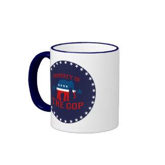 PROPERTY OF THE GOP RINGER COFFEE MUG