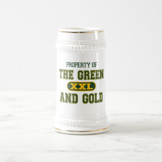 Property of The Green and Gold1 Beer Stein