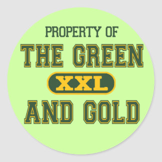 Property of The Green and Gold1 Classic Round Sticker