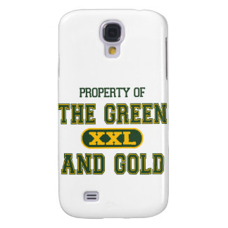 Property of The Green and Gold1 Galaxy S4 Covers