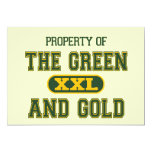 """Property of The Green and Gold1 5"""" X 7"""" Invitation Card"""