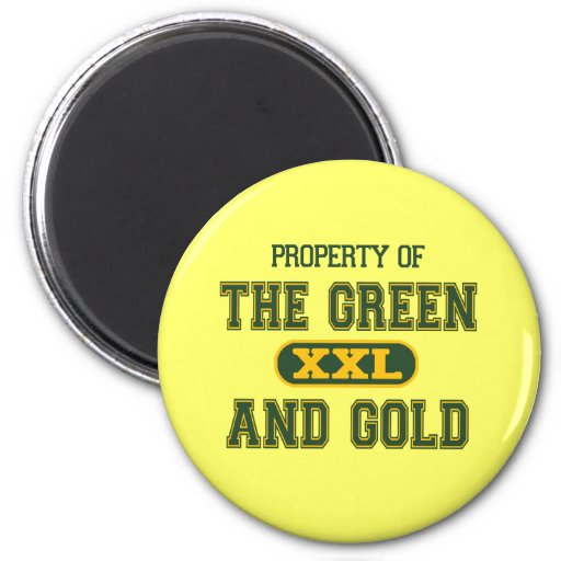 Property of The Green and Gold1 Fridge Magnets