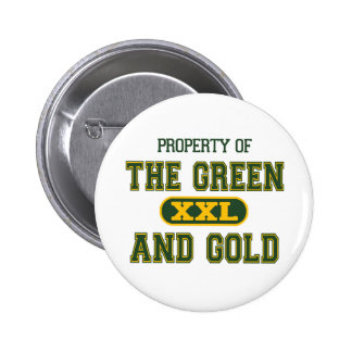 Property of The Green and Gold1 Pinback Button