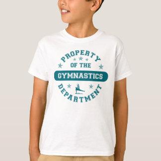 Boys gymnastics t shirts shirt designs zazzle for Property of shirt designs