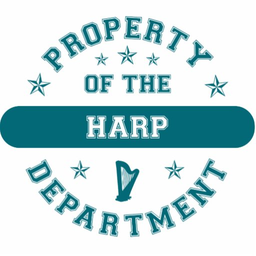 Property of the Harp Department Cut Out