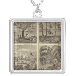 Property of the Hartford City Coal and Salt Silver Plated Necklace