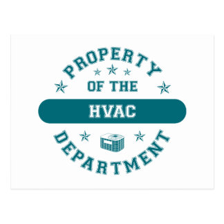 Property of the HVAC Department Postcard