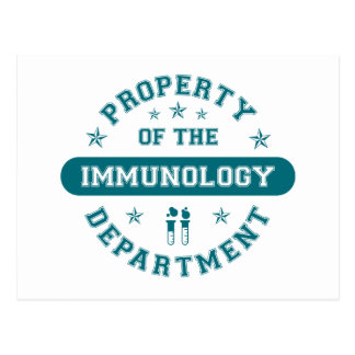 Property of the Immunology Department Postcard