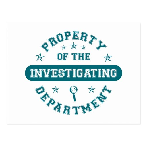 Property of the Investigating Department Postcard
