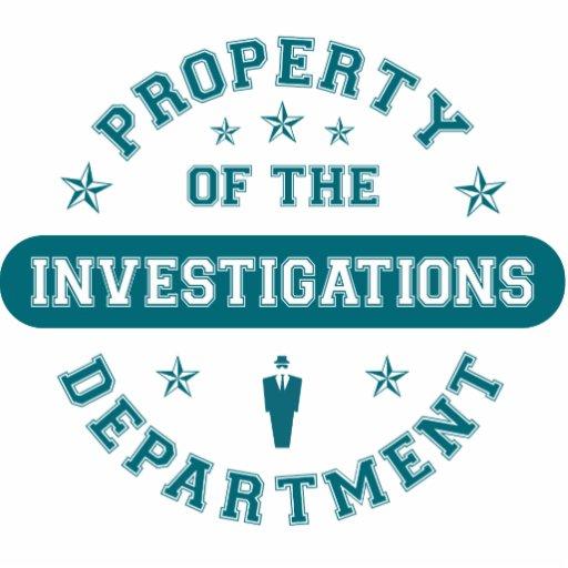 Property of the Investigations Department Photo Sculpture Ornament