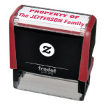 """[ Thumbnail: """"Property of The Jefferson Family"""" Self-Inking Stamp ]"""