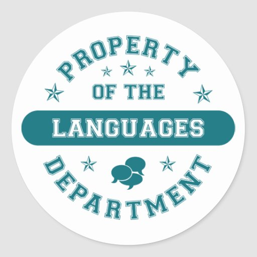 Property of the Languages Department Round Stickers