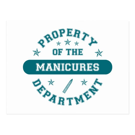 Property of the Manicures Department Postcard