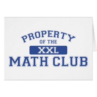 Property Of The Math Club XXL Greeting Card