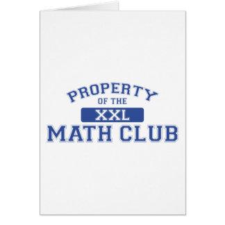 Property Of The Math Club XXL Card