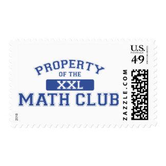 Property Of The Math Club XXL Postage Stamp