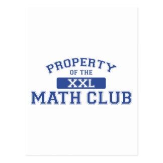 Property Of The Math Club XXL Postcard