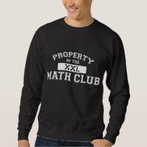 Property Of The Math Club XXL Sweatshirt