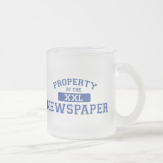 Property Of The Newspaper XXL Frosted Glass Coffee Mug
