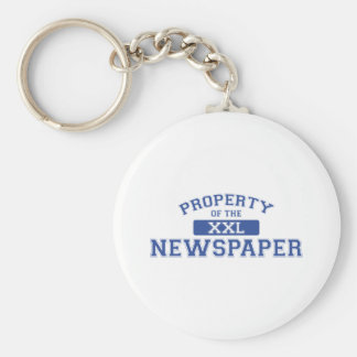 Property Of The Newspaper XXL Basic Round Button Keychain