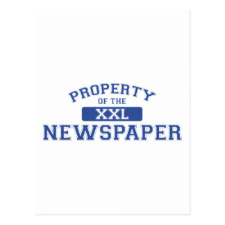 Property Of The Newspaper XXL Postcard