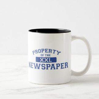 Property Of The Newspaper XXL Two-Tone Coffee Mug