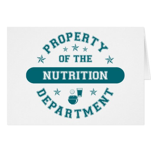 Property of the Nutrition Department Greeting Card