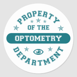 Property of the Optometry Department Classic Round Sticker