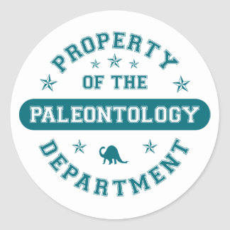 Property of the Paleontology Department Classic Round Sticker