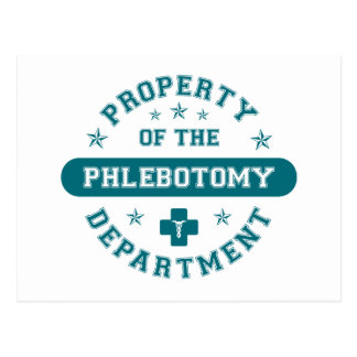 Property of the Phlebotomy Department Postcard