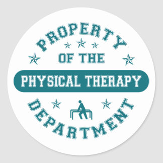 Property of the Physical Therapy Department Sticker