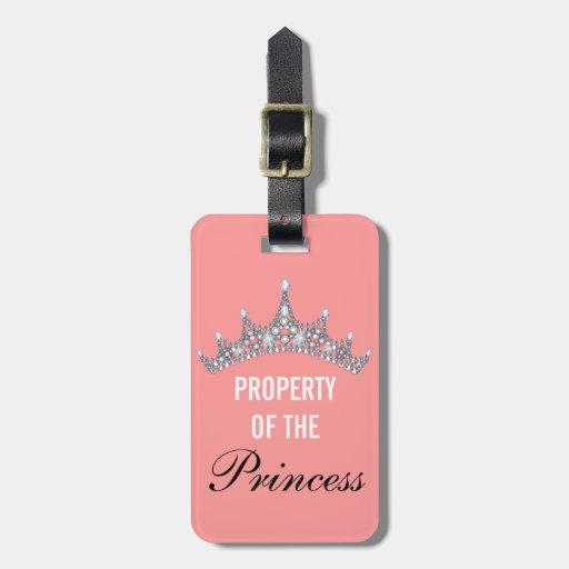 Property of the Princess Tiara Luggage Tag