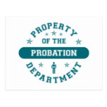 Property of the Probation Department Postcard