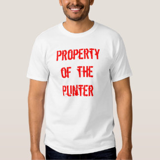 Property of the Punter T Shirt