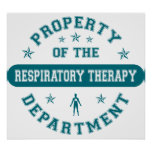 Property of the Respiratory Therapy Department Poster