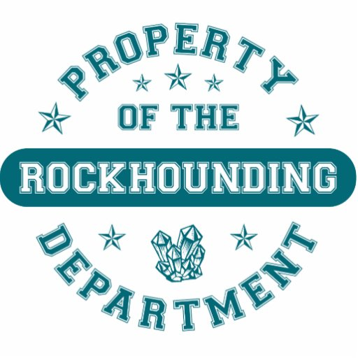 Property of the Rockhounding Department Photo Sculpture Ornament