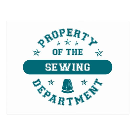 Property of the Sewing Department Postcard