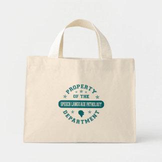 Property of the Speech Language Pathology Departme Mini Tote Bag