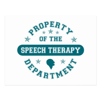 Property of the Speech Therapy Department Postcard