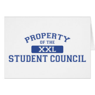 Property Of The Student Council XXL Card